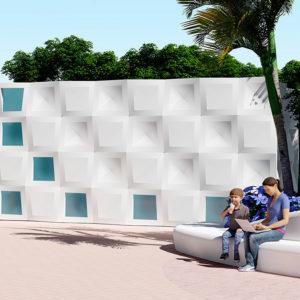 Nouveau système modulaire pour les façades: rythme harmonique et régularité structurelle
