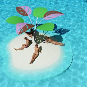 SandBank: Des îles artificielles pour se détendre, bronzer ou jouer.