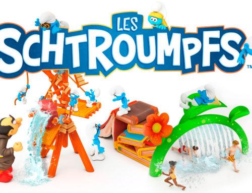 Nous apportons une nouvelle aventure bleu : Le SplashPad des Schtroumpfs